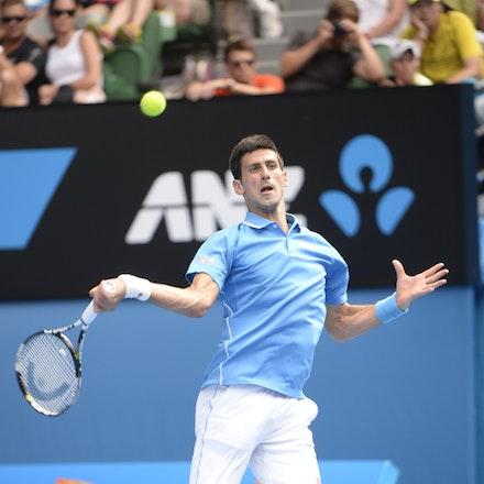 _PB16611 - 2015 20th January. Day 2 of the Australian Open Tennis. World Number 1 Novak Djokovic  (SRB) defeats Aljaz Bedene (SLO) in straight sets 6-3,...