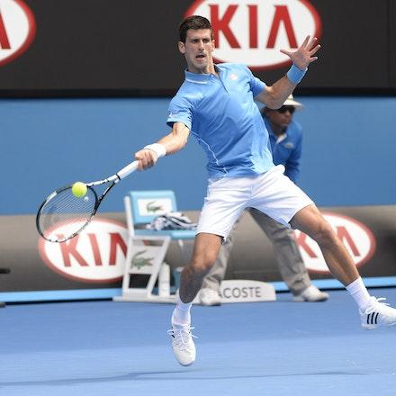 _PB16633 - 2015 20th January. Day 2 of the Australian Open Tennis. World Number 1 Novak Djokovic  (SRB) defeats Aljaz Bedene (SLO) in straight sets 6-3,...