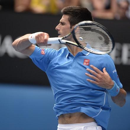 _PB16636 - 2015 20th January. Day 2 of the Australian Open Tennis. World Number 1 Novak Djokovic  (SRB) defeats Aljaz Bedene (SLO) in straight sets 6-3,...