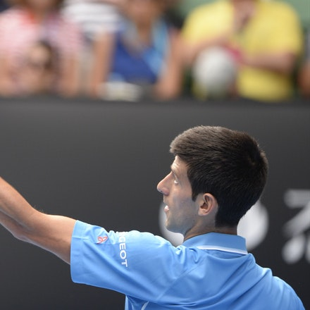 _PB16639 - 2015 20th January. Day 2 of the Australian Open Tennis. World Number 1 Novak Djokovic  (SRB) defeats Aljaz Bedene (SLO) in straight sets 6-3,...
