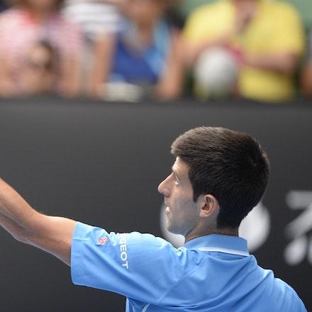 _PB16639 - 2015 20th January. Day 2 of the Australian Open Tennis. World Number 1 Novak Djokovic  (SRB) defeats Aljaz Bedene (SLO) in straight sets 6-3,...
