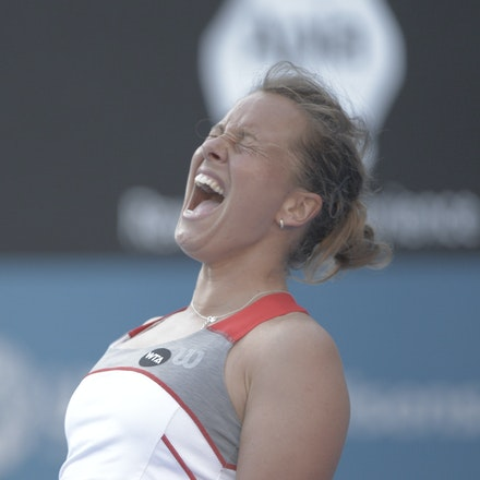 _PB10363 - 2015 14th January APIA International Sydney Tennis, day 4. Tsvetana Pironkova (BUL) defeats Barbora Zahlavova Strycova (CZE) in straight sets,...