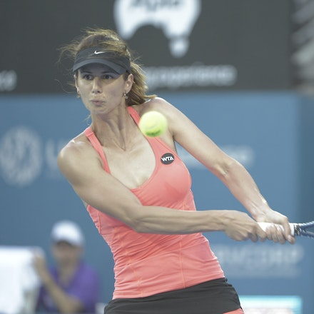 _PB10458 - 2015 14th January APIA International Sydney Tennis, day 4. Tsvetana Pironkova (BUL) defeats Barbora Zahlavova Strycova (CZE) in straight sets,...