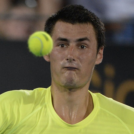 _PB12540 - 2015 15th January APIA International Sydney Tennis, day 5. Australian Bernard TOMIC is defeated by Gilles MULLER (LUX) in straight sets 7-6,...