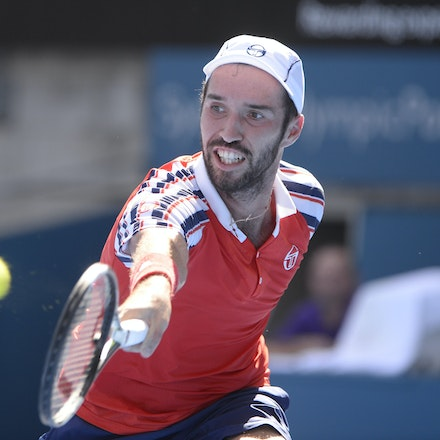 _PB12692 - 2015 16th January APIA International Sydney Tennis, day 6. Mens semi finals Victor Troicki defeats Gilles Muller in straight sets 6-2, 6-4 Troicki...