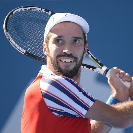 _PB12782 - 2015 16th January APIA International Sydney Tennis, day 6. Mens semi finals Victor Troicki defeats Gilles Muller in straight sets 6-2, 6-4 Troicki...