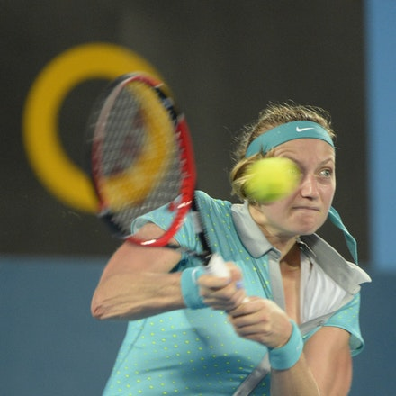 _PB13010 - 2015 16th January APIA International Sydney Tennis, day 6. Womens final, Petra Kvitova (CZE) defeats Karolina Pliskova (CZE) in straight sets...