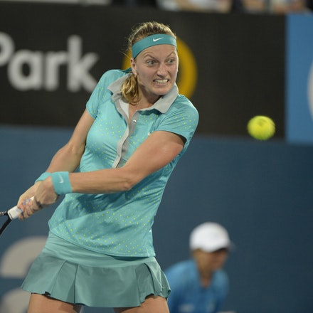 _PB13017 - 2015 16th January APIA International Sydney Tennis, day 6. Womens final, Petra Kvitova (CZE) defeats Karolina Pliskova (CZE) in straight sets...