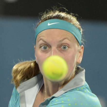 _PB13021 - 2015 16th January APIA International Sydney Tennis, day 6. Womens final, Petra Kvitova (CZE) defeats Karolina Pliskova (CZE) in straight sets...