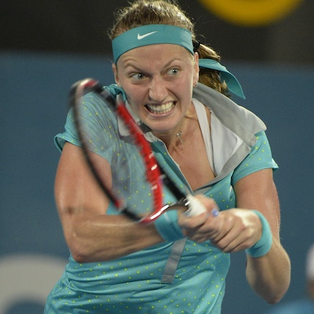_PB13030 - 2015 16th January APIA International Sydney Tennis, day 6. Womens final, Petra Kvitova (CZE) defeats Karolina Pliskova (CZE) in straight sets...