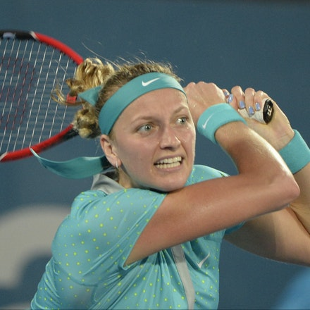 _PB13032 - 2015 16th January APIA International Sydney Tennis, day 6. Womens final, Petra Kvitova (CZE) defeats Karolina Pliskova (CZE) in straight sets...
