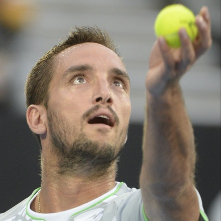 _PB13748 - 2015 17th January APIA International Sydney Tennis, day 7. Mens final, Viktor Troicki (SRB) defeats Mikhail KUKUSHKIN (KAZ) in Straight sets,...