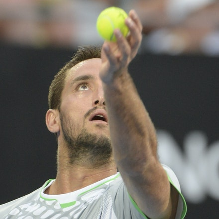 _PB13729 - 2015 17th January APIA International Sydney Tennis, day 7. Mens final, Viktor Troicki (SRB) defeats Mikhail KUKUSHKIN (KAZ) in Straight sets,...