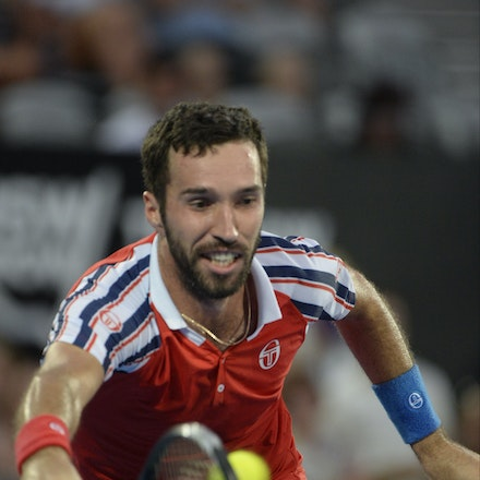 _PB13817 - 2015 17th January APIA International Sydney Tennis, day 7. Mens final, Viktor Troicki (SRB) defeats Mikhail KUKUSHKIN (KAZ) in Straight sets,...