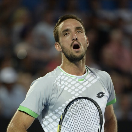 _PB13857 - 2015 17th January APIA International Sydney Tennis, day 7. Mens final, Viktor Troicki (SRB) defeats Mikhail KUKUSHKIN (KAZ) in Straight sets,...