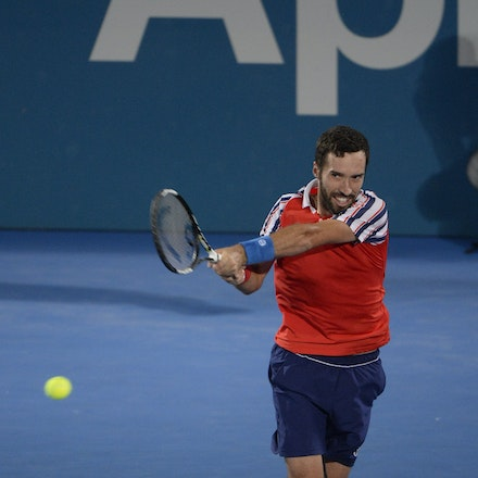 _PB13937 - 2015 17th January APIA International Sydney Tennis, day 7. Mens final, Viktor Troicki (SRB) defeats Mikhail KUKUSHKIN (KAZ) in Straight sets,...
