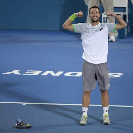 _PB13998 - 2015 17th January APIA International Sydney Tennis, day 7. Mens final, Viktor Troicki (SRB) defeats Mikhail KUKUSHKIN (KAZ) in Straight sets,...