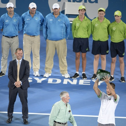 _PB14093 - 2015 17th January APIA International Sydney Tennis, day 7. Mens final, Viktor Troicki (SRB) defeats Mikhail KUKUSHKIN (KAZ) in Straight sets,...