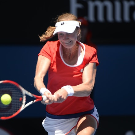 _PB17456 - 2015 21st January. Day 3 of the Australian Open Tennis. Ekaterina Makanrova (RUS) defeats Roberta Vinci (ITA) in straight sets 6-2 6-4. Makarova...