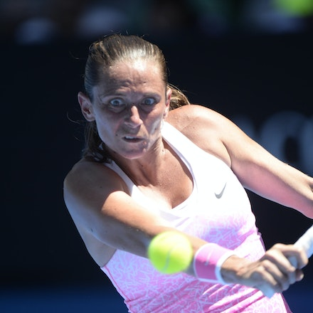 _PB17470 - 2015 21st January. Day 3 of the Australian Open Tennis. Ekaterina Makanrova (RUS) defeats Roberta Vinci (ITA) in straight sets 6-2 6-4. Vinci...