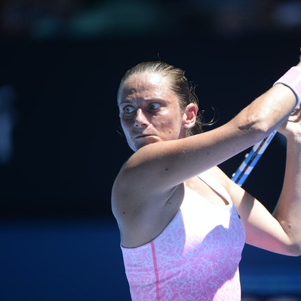 _PB17482 - 2015 21st January. Day 3 of the Australian Open Tennis. Ekaterina Makanrova (RUS) defeats Roberta Vinci (ITA) in straight sets 6-2 6-4. Vinci...