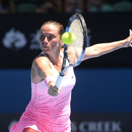 _PB17466 - 2015 21st January. Day 3 of the Australian Open Tennis. Ekaterina Makanrova (RUS) defeats Roberta Vinci (ITA) in straight sets 6-2 6-4. Vinci...