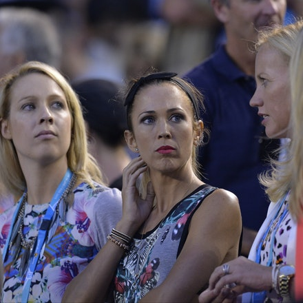 _PB10376 - 2015 22nd January. Day 4 of the Australian Open Tennis. Bec Hewitt and her friends turns out to support husband and tennis star Lleyton Hewitt