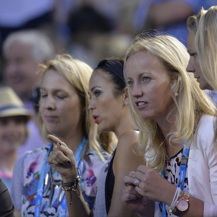 _PB10384 - 2015 22nd January. Day 4 of the Australian Open Tennis. Bec Hewitt and her friends turns out to support husband and tennis star Lleyton Hewitt