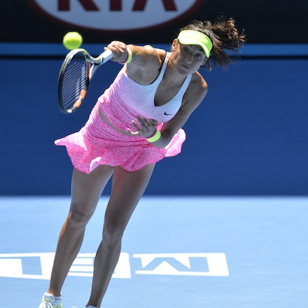 _PB10827 - 2015 23rd January. Day 5 of the Australian Open Tennis. Eugenie Bouchard (CAN) defeats Caroline Garcia (FRA) in straight sets 7-5 6-0 Garcia...