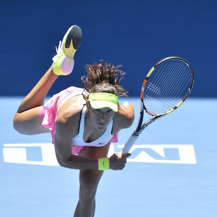 _PB10831 - 2015 23rd January. Day 5 of the Australian Open Tennis. Eugenie Bouchard (CAN) defeats Caroline Garcia (FRA) in straight sets 7-5 6-0 Garcia...