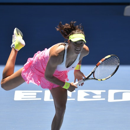 _PB10823 - 2015 23rd January. Day 5 of the Australian Open Tennis. Eugenie Bouchard (CAN) defeats Caroline Garcia (FRA) in straight sets 7-5 6-0 Garcia...