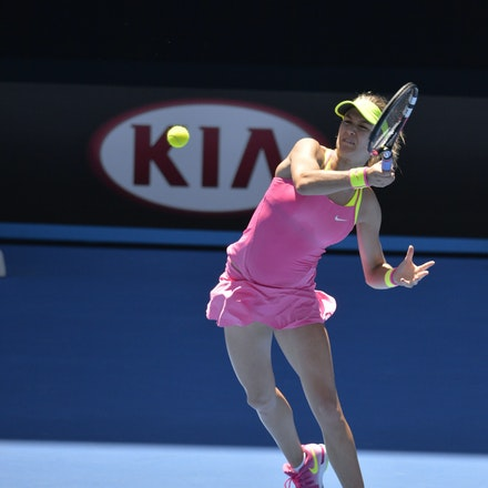 _PB11079 - 2015 23rd January. Day 5 of the Australian Open Tennis. Eugenie Bouchard (CAN) defeats Caroline Garcia (FRA) in straight sets 7-5 6-0 Bouchard...