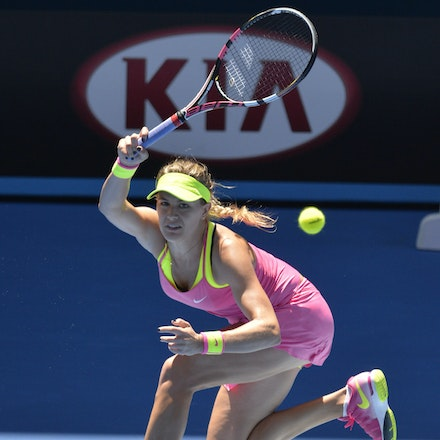 _PB11084 - 2015 23rd January. Day 5 of the Australian Open Tennis. Eugenie Bouchard (CAN) defeats Caroline Garcia (FRA) in straight sets 7-5 6-0 Bouchard...