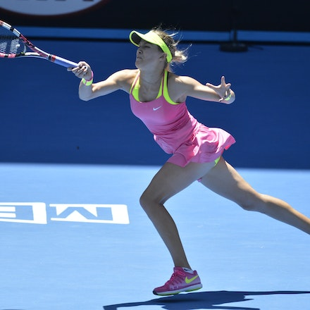 _PB11088 - 2015 23rd January. Day 5 of the Australian Open Tennis. Eugenie Bouchard (CAN) defeats Caroline Garcia (FRA) in straight sets 7-5 6-0 Bouchard...