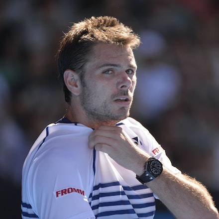 _PB13330 - 2015 24th January. Day 6 of the Australian Open Tennis. Stan Wawrinka (SUI) defeats Jarkko Nieminen in straight sets 6-4 6-2 6-4. Wawrinka in...