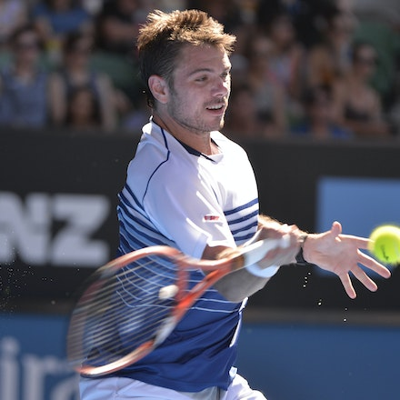 _PB13343 - 2015 24th January. Day 6 of the Australian Open Tennis. Stan Wawrinka (SUI) defeats Jarkko Nieminen in straight sets 6-4 6-2 6-4. Wawrinka in...