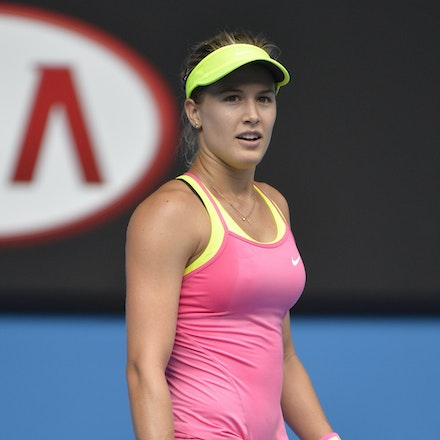 _PB13884 - 2015 25th January. Day 7 of the Australian Open Tennis. Eugenie Bouchard (CAN) defeats Irena-Camelia Begu 6-1 5-7 6-2 Bouchard in action