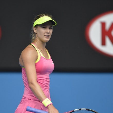 _PB13886 - 2015 25th January. Day 7 of the Australian Open Tennis. Eugenie Bouchard (CAN) defeats Irena-Camelia Begu 6-1 5-7 6-2 Bouchard in action