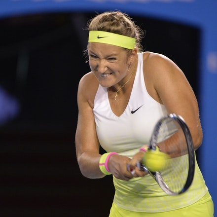 _PB16577 - 2015 26th January. Day 8 of the Australian Open Tennis. Dominika Cibulkova (SVK) defeats Victoria Azarenka (BLR) 6-2 3-6 6-3 Azarenka in action
