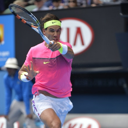 _PB10032 - 2015 27th January. Day 9 of the Australian Open Tennis. Tomas Berdych (CZE) defeats Rafeal Nadal (SPA) in straight sets 6-2 6-0 7-6 Nadal in...