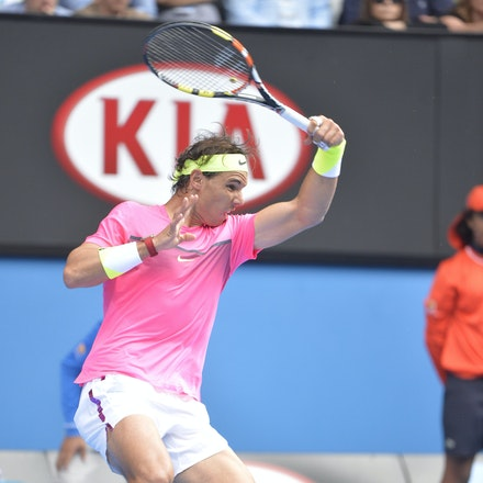 _PB10149 - 2015 27th January. Day 9 of the Australian Open Tennis. Tomas Berdych (CZE) defeats Rafeal Nadal (SPA) in straight sets 6-2 6-0 7-6 Nadal in...