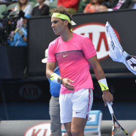 _PB10070 - 2015 27th January. Day 9 of the Australian Open Tennis. Tomas Berdych (CZE) defeats Rafeal Nadal (SPA) in straight sets 6-2 6-0 7-6 Nadal in...