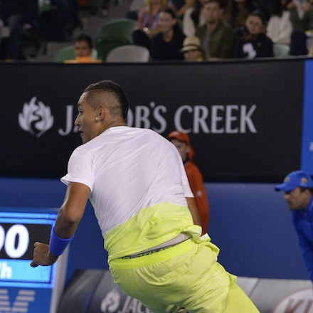 _PB10391 - 2015 27th January. Day 9 of the Australian Open Tennis. Andy Murray (GBR) defeats Nick Kyrgios in straight sets 6-3 7-6 6-3 Kyrgios in action
