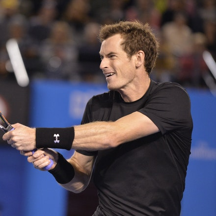 _PB10427 - 2015 27th January. Day 9 of the Australian Open Tennis. Andy Murray (GBR) defeats Nick Kyrgios in straight sets 6-3 7-6 6-3 Murray in action