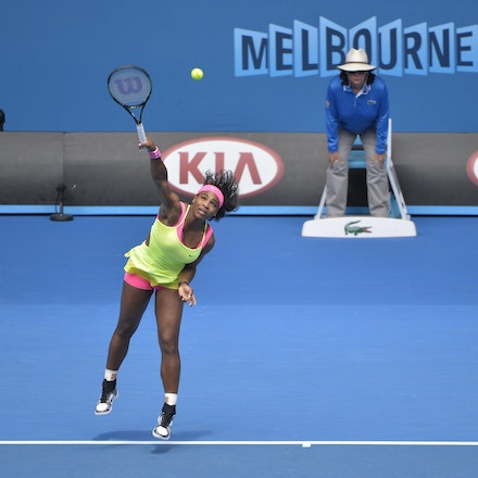 _PB10789 - 2015 28th January. Day 10 of the Australian Open Tennis. Serena Williams (USA) defeats Dominica Cibulkova in straight sets 6-2 6-2. Williams...