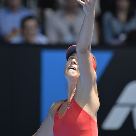 _PB12637 - 2015 29th January. Day 11 of the Australian Open Tennis. Maria Sharapova (RUS) defeats Ekaterina Makarova in straight sets 6-3 6-2 Sharapova...