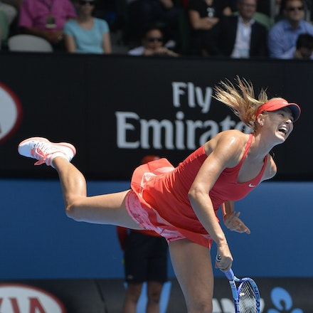 _PB12659 - 2015 29th January. Day 11 of the Australian Open Tennis. Maria Sharapova (RUS) defeats Ekaterina Makarova in straight sets 6-3 6-2 Sharapova...