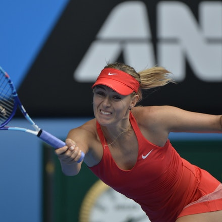 _PB12731 - 2015 29th January. Day 11 of the Australian Open Tennis. Maria Sharapova (RUS) defeats Ekaterina Makarova in straight sets 6-3 6-2 Sharapova...