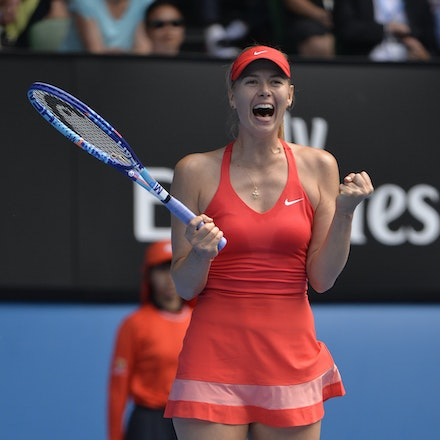 _PB12882 - 2015 29th January. Day 11 of the Australian Open Tennis. Maria Sharapova (RUS) defeats Ekaterina Makarova in straight sets 6-3 6-2 Sharapova...