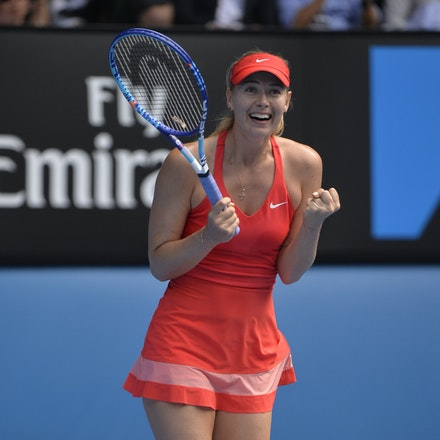 _PB12901 - 2015 29th January. Day 11 of the Australian Open Tennis. Maria Sharapova (RUS) defeats Ekaterina Makarova in straight sets 6-3 6-2 Sharapova...
